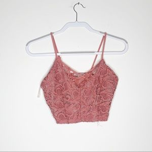 Charlotte Russe Lace Bra Criss Cross Crop Top